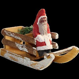 Wonderful German Santa Candy Container