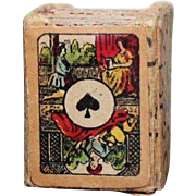 Antique French Miniature Boxed Playing Cards For Your Doll, circa 1900/1910