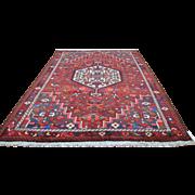 7'1 x 10'4 Geometric Tribal Design Elegant Genuine Persian Bakhtiari Hand Knotted Wool Area Rug