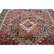 8'8 ft x 12'8 ft Beautiful Vintage Genuine Persian Heriz Hand Knotted Wool Area Rug
