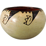 Miniature Maricopa Indian Pottery Bowl by Mary Juan