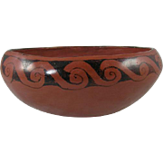 Ida Redbird Maricopa Indian Pottery Bowl