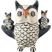 Cochiti Pueblo Pottery Mother Owl by Seferina Ortiz