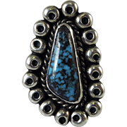Tyrone Turquoise Navajo Indian Silver Ring
