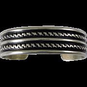 Silver Cuff Bracelet Navajo Guild
