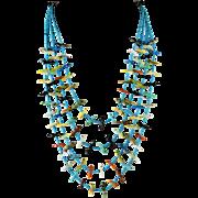 Zuni Indian 99 Birds Fetish Necklace by George Cheechee