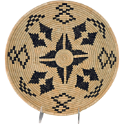 Vintage Native American Apache Indian Basketry Tray