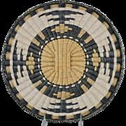 Hopi Wicker Tray Third Mesa Wedding Robe Design