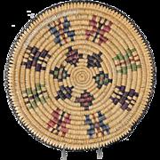 Vintage Navajo Indian Sumac Butterfly Basket
