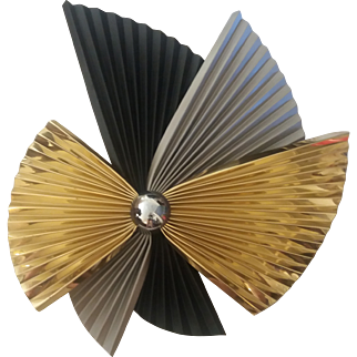 Curtis Jere' Pinwheel Metal Wall Sculpture