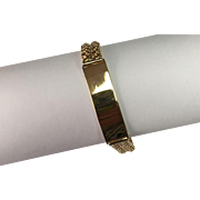 18 K Yellow Gold Engrave able ID Bracelet
