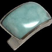 Vintage Sterling Silver Larimar Ring