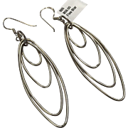 Sterling Silver Pierced Wire Dangle Earrings