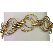 14 K Yellow Gold Triple Circle Link Bracelet