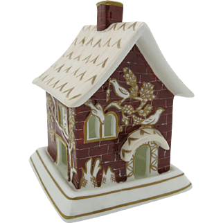 """Coalport Pastille Burner  """"The Red House"""" England 1968  Gift Boxed  Free Shipping"""