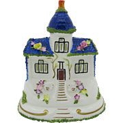 "Coalport China Cottage ""The Blue House"" England Gift Boxed Free Shipping"