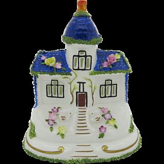 "Coalport China Cottage ""The Blue House"" England Gift Boxed Free Shipping"