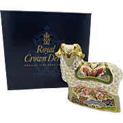 Royal Crown Derby Imari Ram Paperweight 22ct Gold  Boxed  Free Shipping