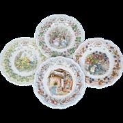 Brambly Hedge Royal Doulton Full Set Of Four Seasons 8 inch Plates
