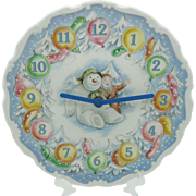 The Snowman Wall Clock Gift Boxed Royal Doulton Snowman Gift Collection
