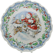 The Snowman's Visit Royal Doulton Snowman Collection Plate Gift Boxed