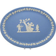 Wedgwood Jasper Oval Tray Blue Jasperware  Psyche Bound by Cupid  Gift Boxed  Free Shipping - Red Tag Sale Item