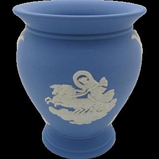 Wedgwood Jasper Urn Vase Blue Jasperware  England 1975  Free Gift Box  Free Shipping