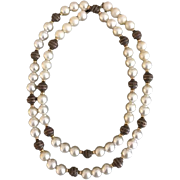 Vintage Faux Pearl and Metallic Beads