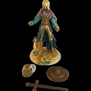 Rare Signed Vintage Joan of Arc Figurine