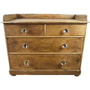 Antique Early American Primitive Farmhouse Chest of Drawers 19th Century