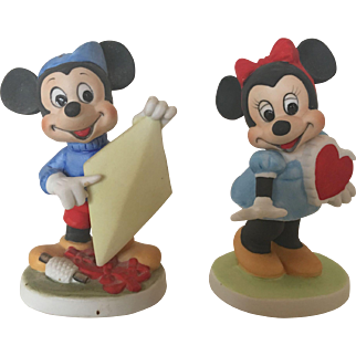 Disney Figurines, Mickey and Minnie