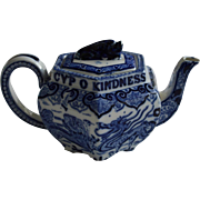 19c. W.T. Copeland & Sons Late Spode English Lang Syne Burn's Pattern Teapot