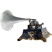 Antique Phonograph Le Menestrel, France, 1902