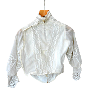 19th C. Beige French Lady's Top with Lace