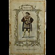 Henry VIII, Mountagues History of England Engraving, London, 1771