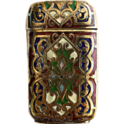 Victorian Bronze Pill Box