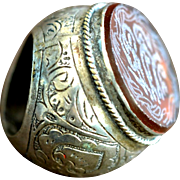 Vintage Silver Ring, Persia, 1900s