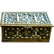 Victorian Bronze Trinket Box