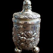 Antique Silver Tea Caddy