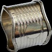 Silver Napkin Ring, 1911, Birmingham