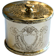 Vintage English Silver Plate Tea Caddy