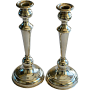 Pair of Victorian Silver Plate Candlesticks
