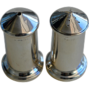 Vintage Modernist Solid Silver Salt & Pepper Shakers, Birmingham 1942