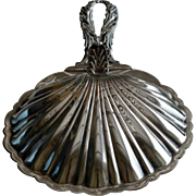 19th Italian Silver Plate Shell shaped Bon-Bon Dish