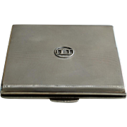 Silver Cigarette Case, Birmingham 1936, by Smith & Bartlam