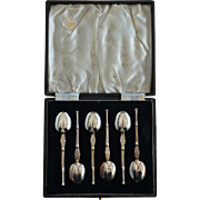 Set of Silver & Gilt Tea Spoons, London 1936