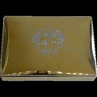 1900s Sterling Silver Gilt American Card Box
