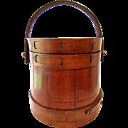 "Small New England 6"" Sugar Bucket Firkin Country Primitive"