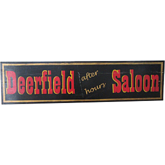 """Big 48"""" Vintage Hand Painted Saloon Bar Sign Wood Country Primitive"""