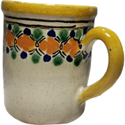 Vintage Mexico Puebla Talavera Pottery Mug
